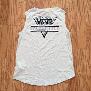 NEW VANS OFF THE WALL RETRO TANK TOP SZ SMALL